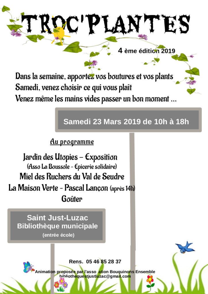 affiche troc'plantes 2019