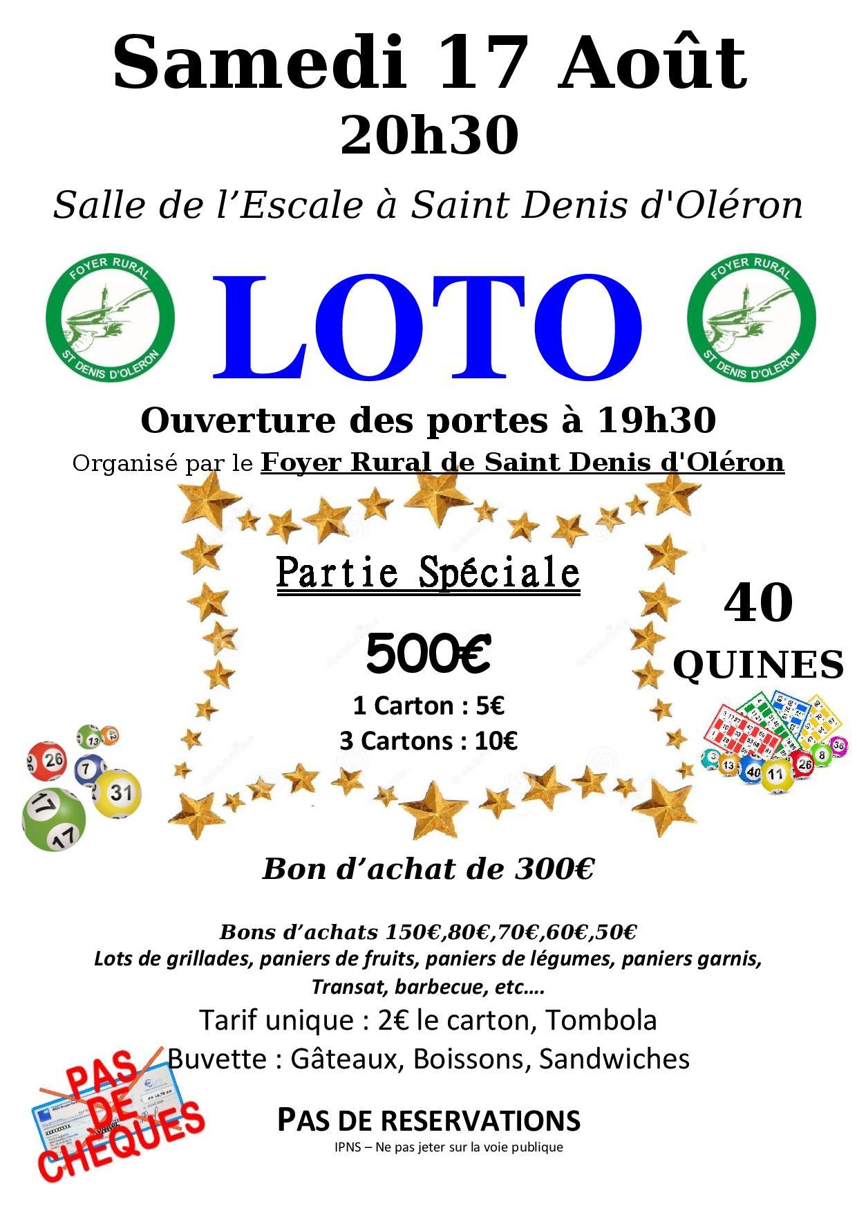 LOTO à St Denis d'Oléron