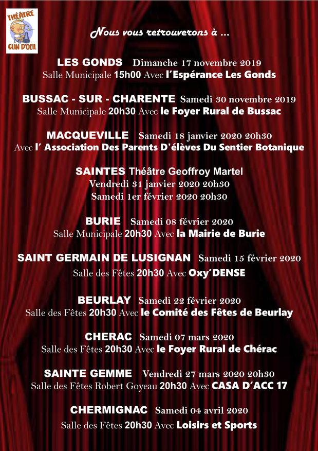 programme 2019-2020 theatre clin doeil